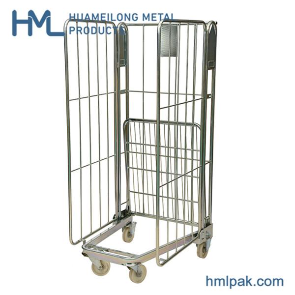 Купить BY-07 Складной стальной ролл контейнер тележка для перевозки товаров