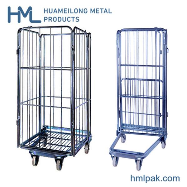 Comprar POR-07 plegable acero almacén del rodillo jaulas