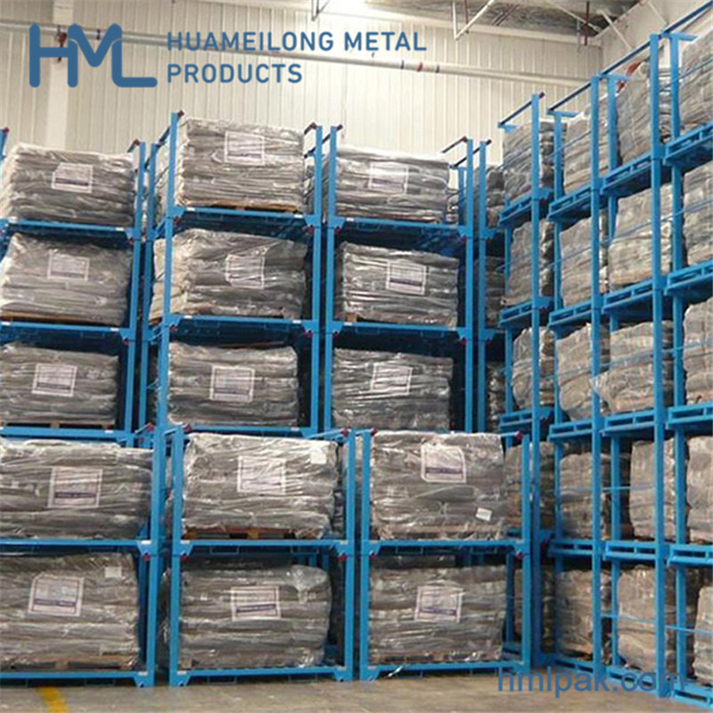 HML-NR1302 Heavy duty industrial warehouse transport stackable storage steel nestainer pallet rack