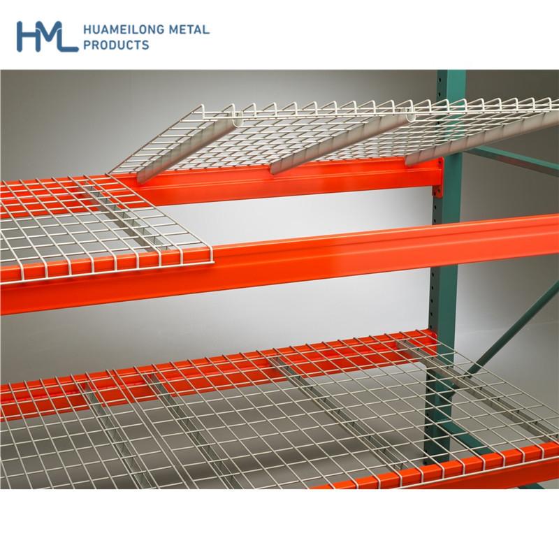 Buy HML-W880*1100D Welded steel metal wire mesh decking railing for pallet racking