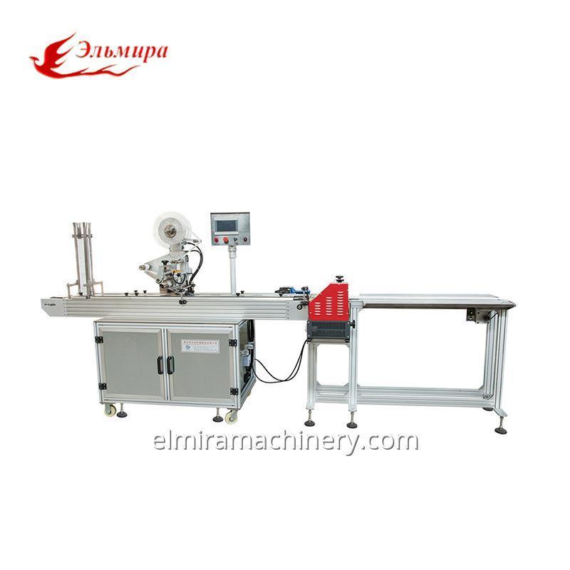 Semi-Automatic Gluing Plastic Lid & Labeling Machine