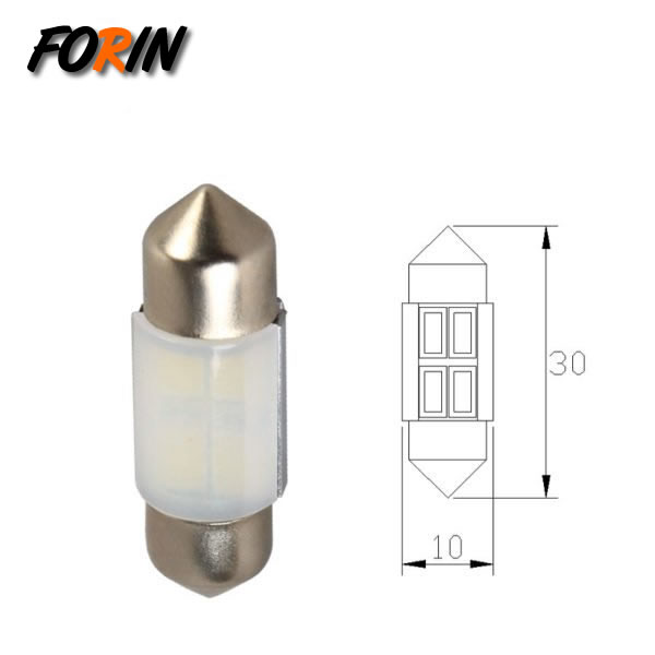 T10X30 LED car bulb 4SMD double-pointed Festoon indoor lamp license plate lamp luggage light 12V