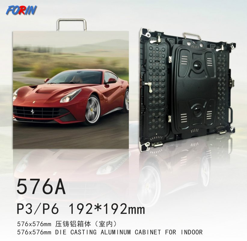 Rental led screen P3,P6 192*192mm 576*567mm