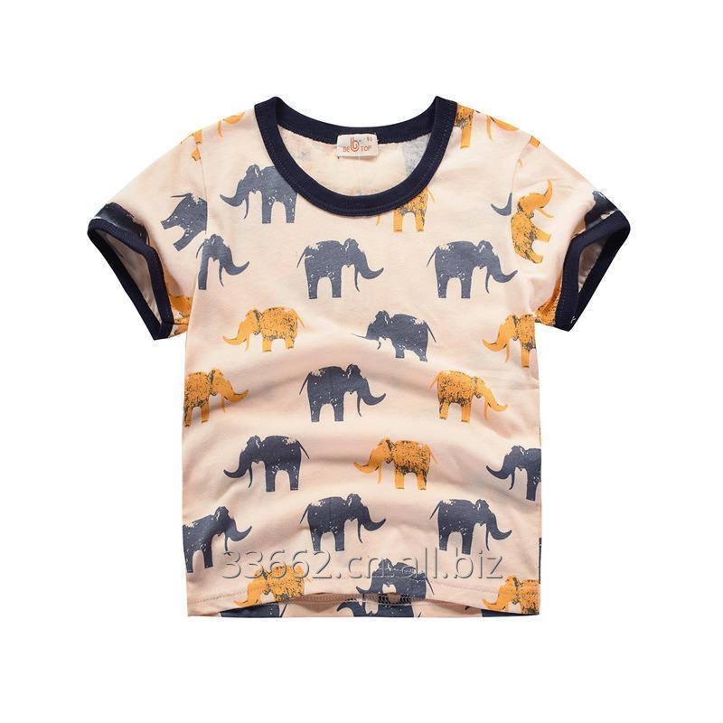 Купить Детская хлопковая футболка Elephant с коротким рукавом