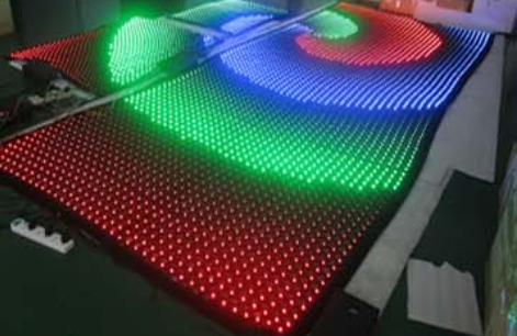 LED flexible high transparent steel  outdoor P35