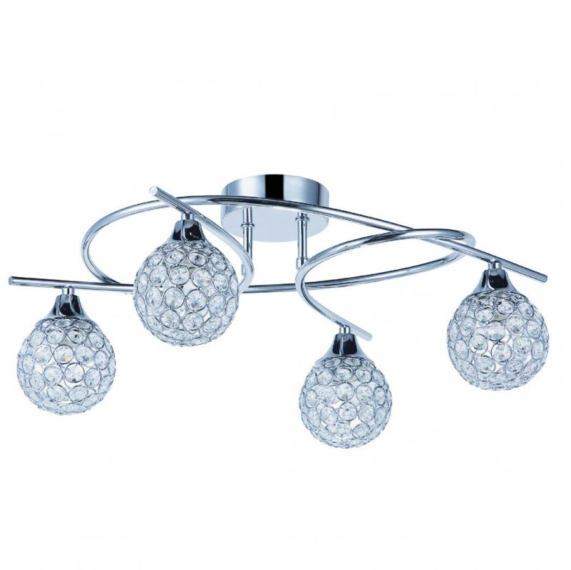 Led ceiling chandeliers Crystal 4 lights