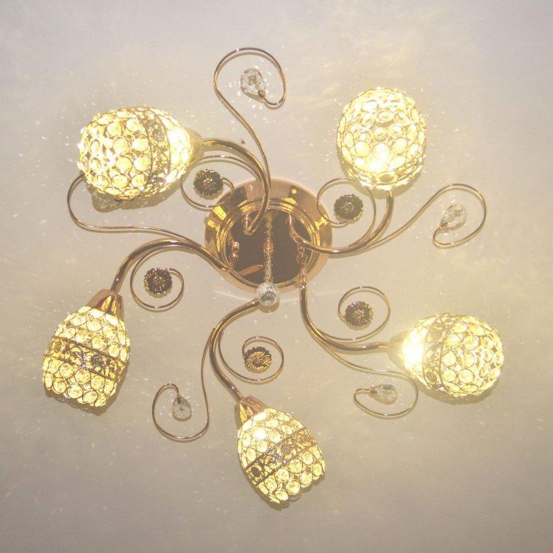 Buy Led ceiling lamp crystal round bedroom living room