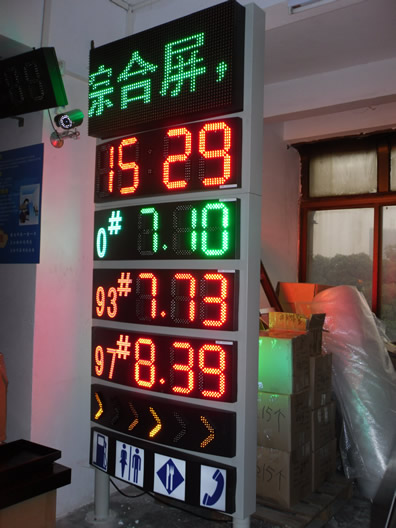 LED display of gas station