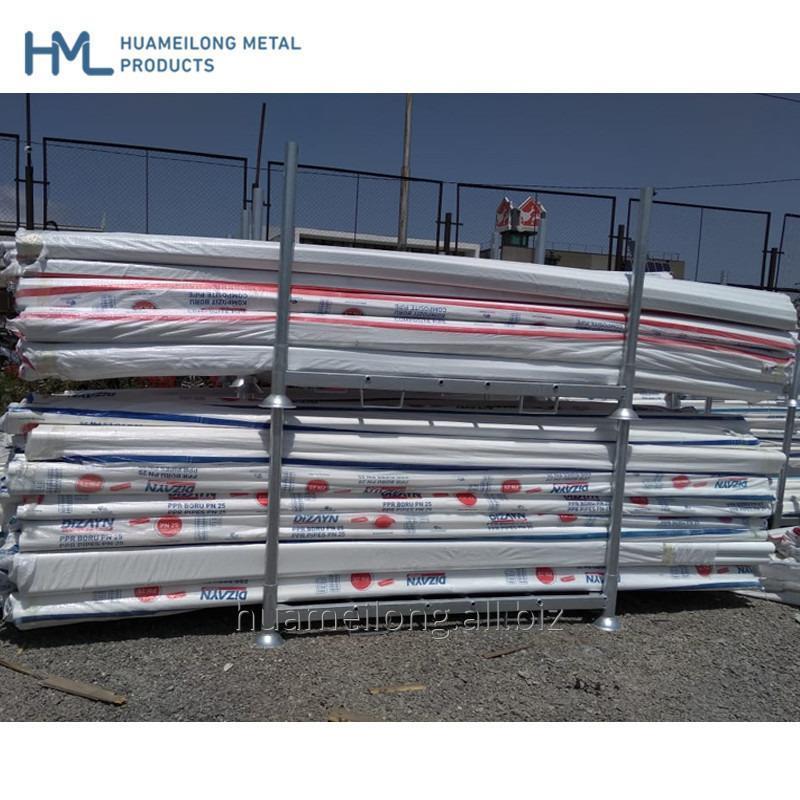 Buy Hot selling logistic adjustable stackable detachable storage steel pallet rack