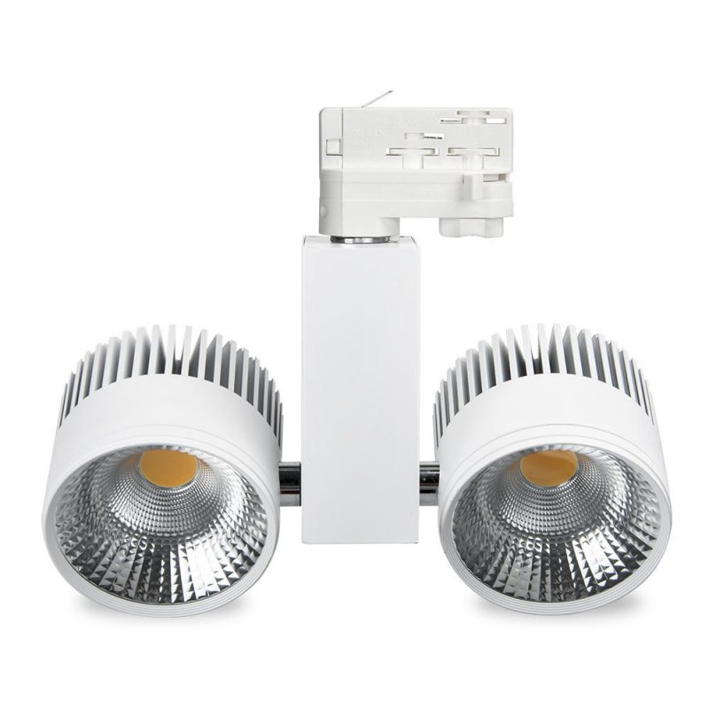 Buy  LDouble head smart light 60W led track lighting from china
