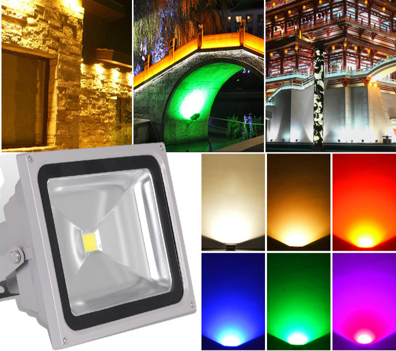 LED Flood Light Outdoor with sensor RGB  from China factory