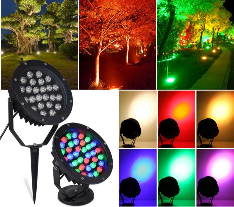 LED Flood Light Outdoor with sensor 3W 5W 6W 9W 12W 15W 18W 36W RGB for trees  cheap