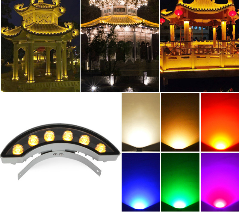 LED Flood Light Outdoor with sensor  for trees 5W 6W 9W 12W  from  China factory