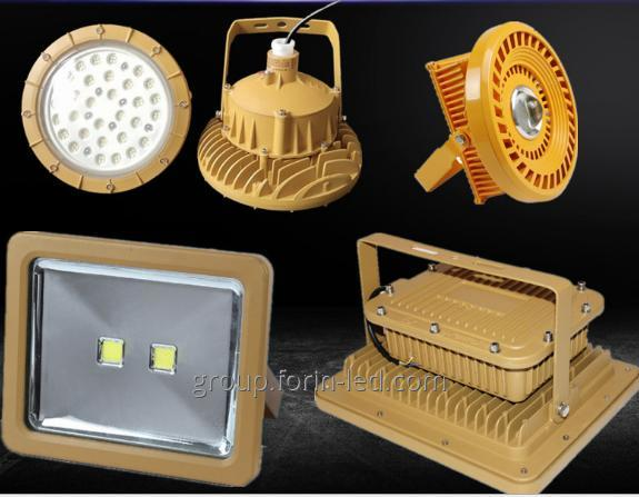 LED The lamp is used at the enterprises of the oil and gas refining industry, the chemical and pharmaceutical industries