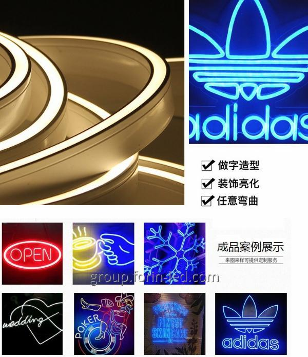 Flexible neon signboard 12V 6×12mm