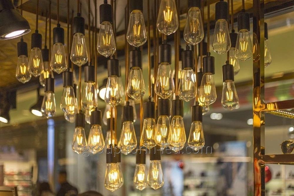 led filament bulb led  High brightness  with 360 degree clear glass for home light S 220V E14 E27 3.5W 6W 8W 4W