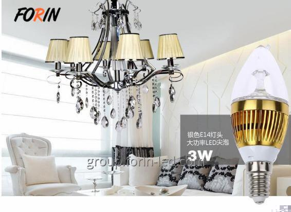 LED lamp candles in the wind transparent  3W E14 220V 6500K China factory