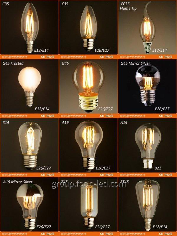 Incandescent filament decorative 25W 30W 40W 50W 60W