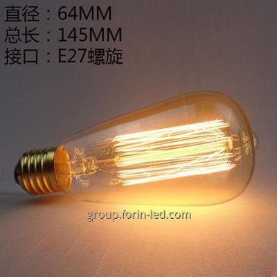 incandescent filament decorative warm white  C35 G45 T30 ST64 A60 G80 G95 G125 E27 3000K