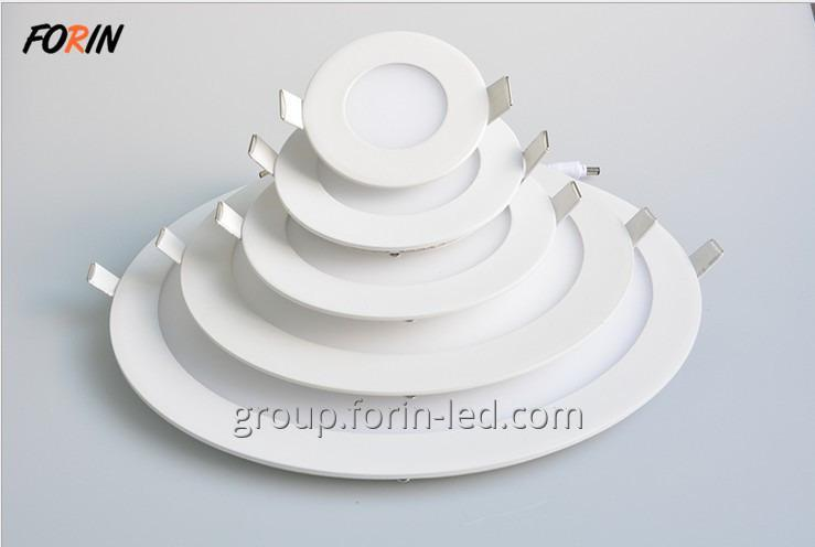 LED Ultrathin Slim Round Recessed  Ceiling Light Fixtures for Stretch Ceilings 9W 12W 18W