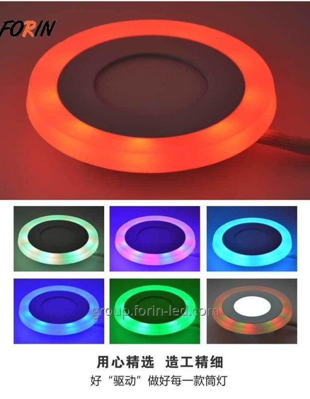 Ceiling lamp panel two-color LED 4000K 2700K 3+3W