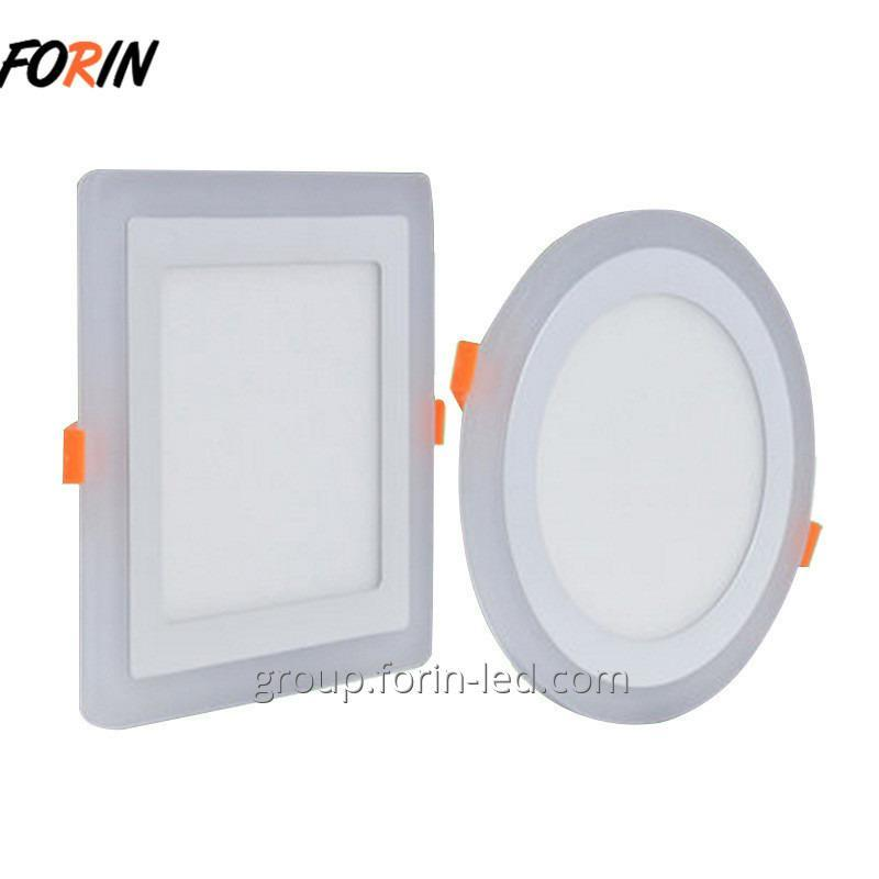Ceiling lamp panel two-tone LED 6500K / blue 12w / 3w 3000K / red 8w / 6w