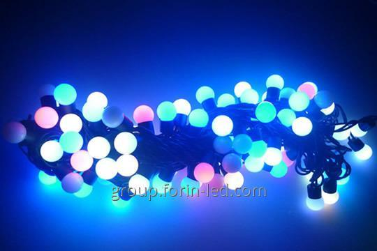 Garland multi balls rgb 10m