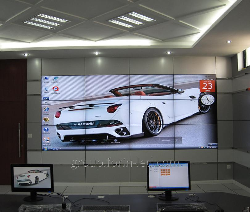 55 inch Media advertisements exhibition splicing screen lcd video walll  3x2m 1.8mm