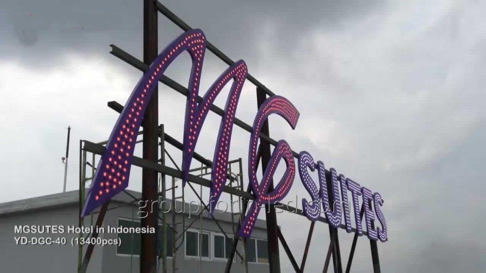 Custom LED facade signs