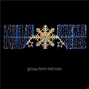 Gold Supplier Outdoor Christmas Street Light Decoration