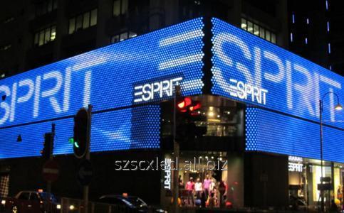 Купить LED медиафасады для рекламы на коммерческой и жилой недвижимости RGB