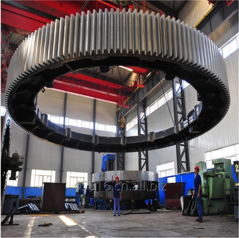 Buy Ball Mill Drive S45C Casting Steel Custom Outer Rotary Dryer Gear Wheel Rotating Large Diameter gear ring