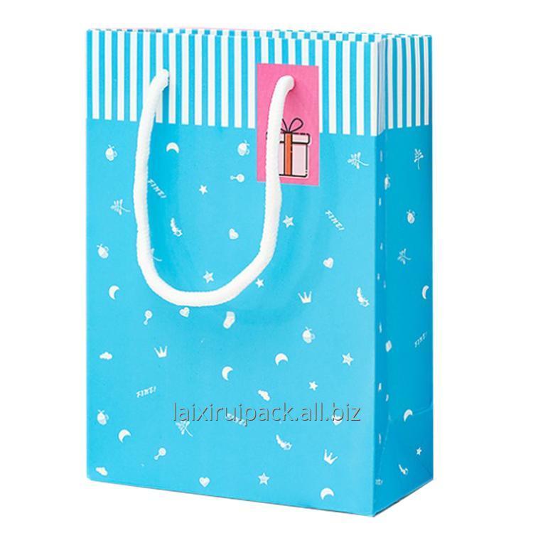 Buy Custom printing High quality ivory paper cute packaging gift bag for kids