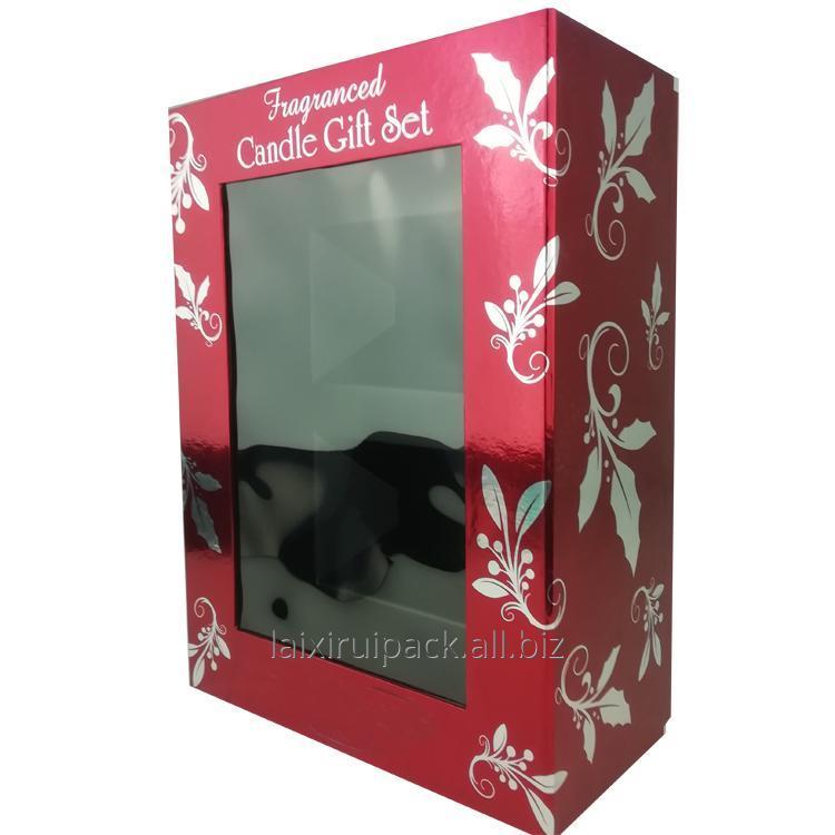 Buy Custom Cardboard Luxury Candle Packaging Box with clear window