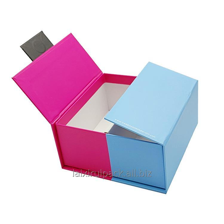 Buy Custom fashion recycle purple & blue Cardboard Paper Packaging Box for Medical Devices
