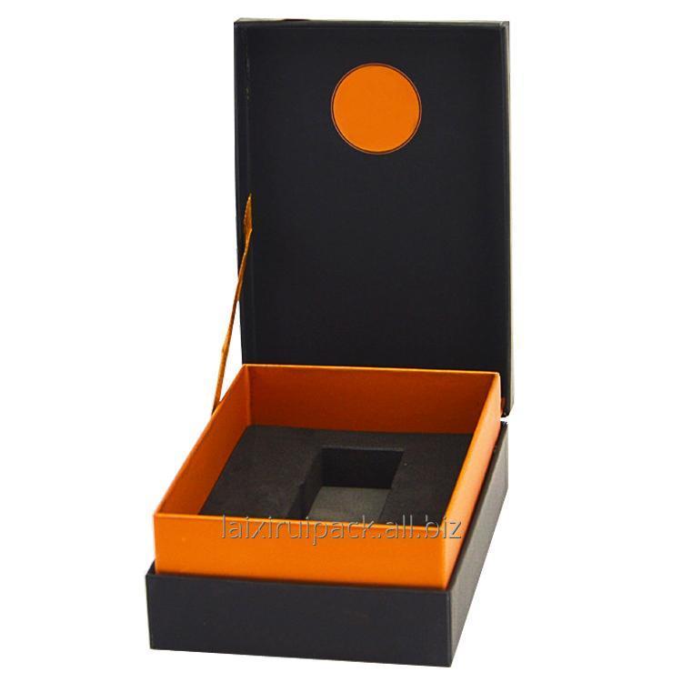 Buy Custom logo printed paper box cosmetics flip top packaging boxes with EVA insert