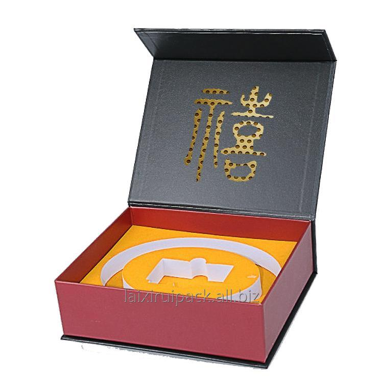 Buy Custom luxury leatherette paper box with eva insert for leather belt package