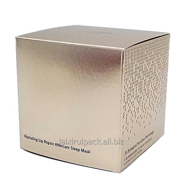 Buy Luxury silver fancy paper die cut cosmetic packaging box cube box