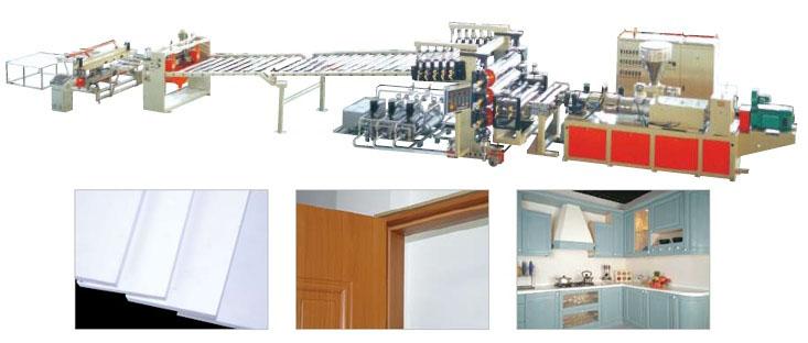 Buy PVC wood plastic free foamed board production line