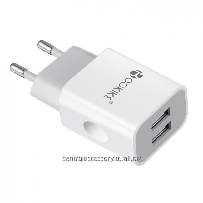 CH-2 Смарт Dual USB зарядное устройство адаптер Главная зарядное оптовики Euro Plug Power С зарядный кабель для смартфонов и планшетов
