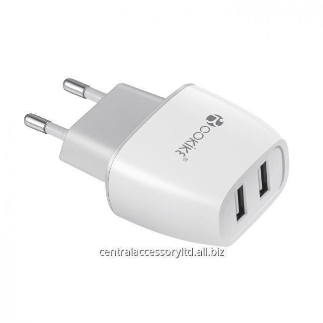 CH-1 Смарт Dual USB зарядное устройство зарядное устройство экспортер Адаптер питания Евро вилка с зарядный кабель для мобильного телефона и таблетки