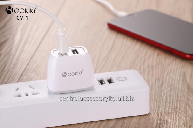 CM-1 Проводные Зарядные устройства Стеновые Производители смарт Dual USB зарядное устройство США Подключите адаптер питания с зарядный кабель для мобильного телефона и таблетки