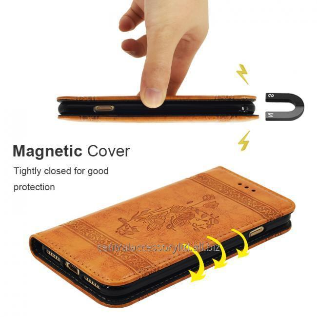 Magnetic Cover Wallet Case