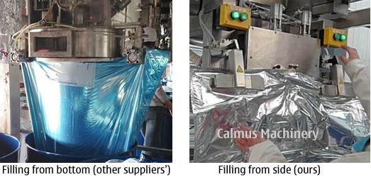 Filling Comparison of 1000 Litre Bag Aseptic Fillers