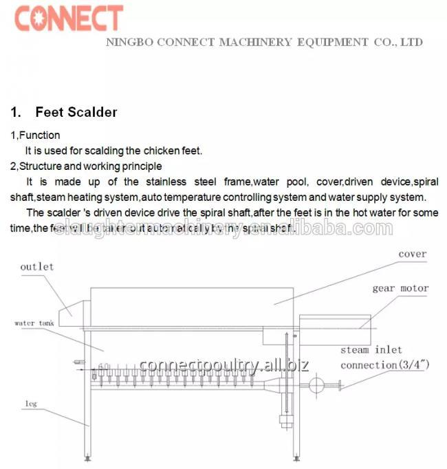 drawing of chicken feet scalder