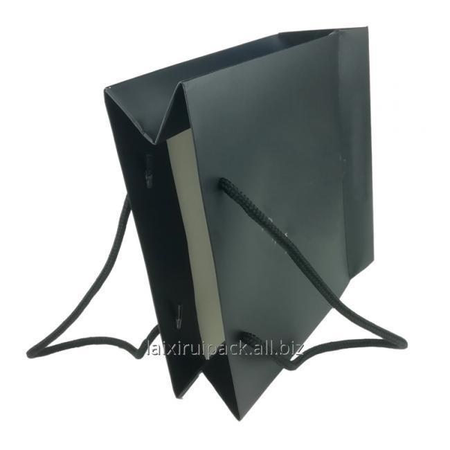 black clothing shopping bag