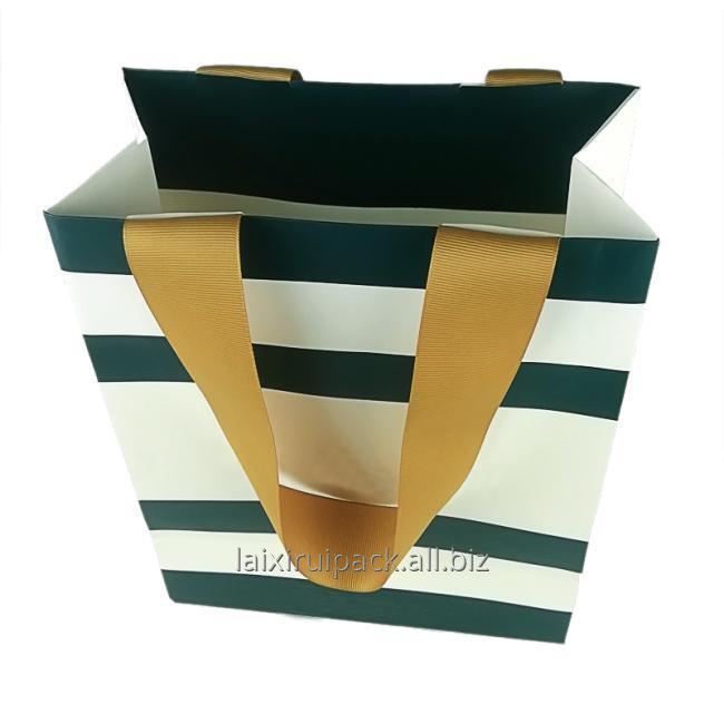 bag with flat ribbon