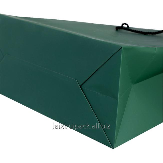 dark green shopping bag