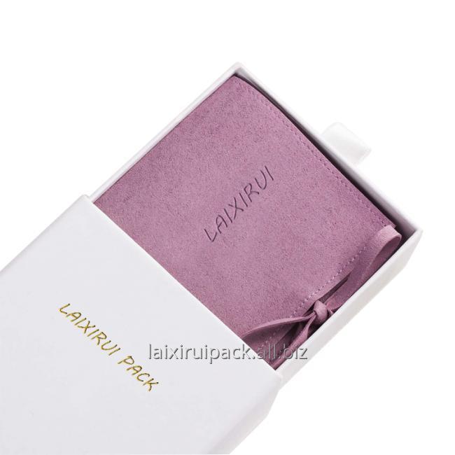purple microfiber bag for jewelry
