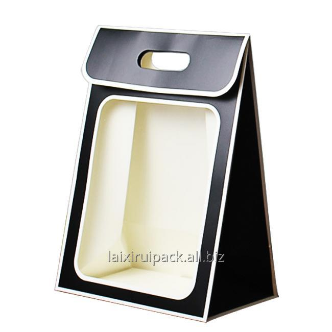 black window handle bag